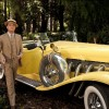 DiCaprio's Gatsby walks around his car like a sir
